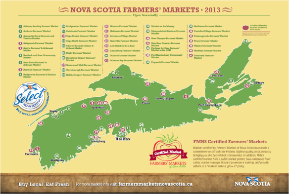 NS Farmers' Markets Map Homepage Last