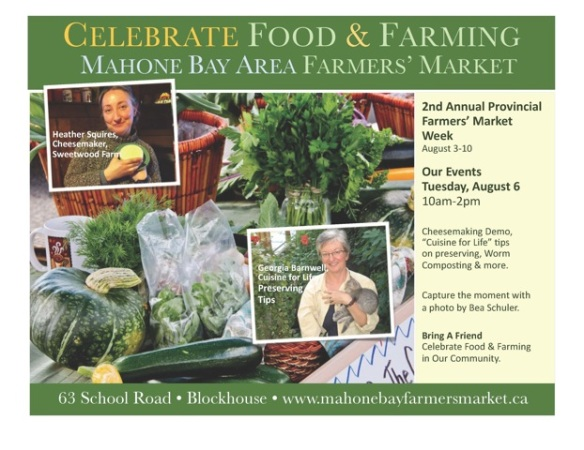Mahone Bay Farmers' Market Week Special Events